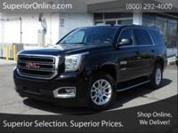 Onyx Black 2016 GMC Yukon SLE 4WD 6-Speed Automatic