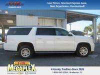 This 2016 GMC Yukon XL SLT in White is well equipped