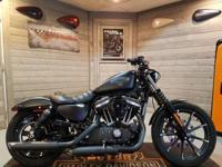 This 2016 Sportster 883 Iron XL883N in black denim has