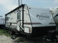 Brand new rear living travel trailer. Full warranty.