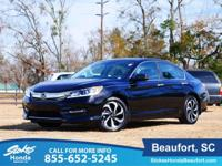 CARFAX One-Owner. Clean CARFAX. Black 2016 Honda Accord