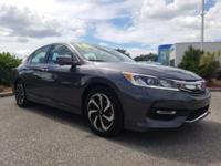 CARFAX One-Owner. Charcoal 2016 Honda Accord EX FWD CVT
