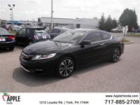 Clean CARFAX. CARFAX One-Owner.  2016 Honda Accord EX-L