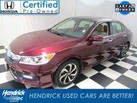 CarFax One Owner! This Honda Accord Sedan is CERTIFIED!