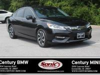 1 Owner, Clean Carfax! This 2016 Honda Accord EX is