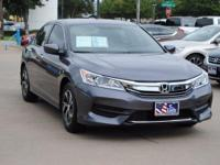 ONE OWNER and HONDA CERTIFIED. Accord LX, Honda