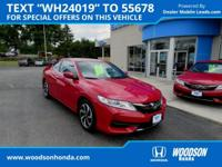 Super low mileage 2016 Accord LX-S Coupe. Gasoline!
