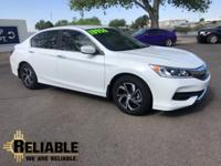 Clean CARFAX. 37/27 Highway/City MPG** White 2016 Honda