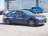 CARFAX One-Owner. Clean CARFAX. Blue 2016 Honda Accord