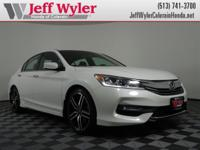 CARFAX One-Owner. Clean CARFAX. White 2016 Honda Accord