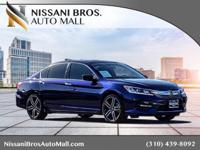 Clean CARFAX. Blue 2016 Honda Accord Sport FWD CVT 2.4L