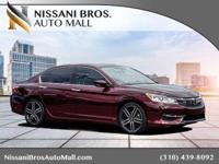 CARFAX One-Owner. Clean CARFAX. Burgundy 2016 Honda