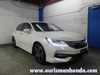 2016 Honda Accord Touring White Leather CARFAX