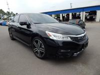 CARFAX One-Owner. Certified. Black 2016 Honda Accord