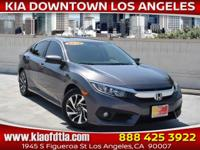 CARFAX One-Owner. Clean CARFAX. Gray 2016 Honda Civic