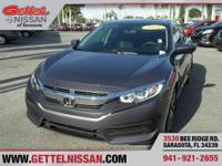 Options:  2016 Honda Civic Ex|Gray|**One Owner** One Of