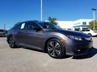 CARFAX One-Owner. Certified. Gray 2016 Honda Civic EX-L