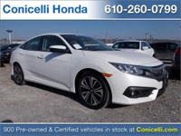 This CERTIFIED 2016 Honda Civic Sedan EX-L has ONLY