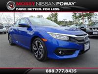 Civic EX-L and Aegean Blue Metallic. Don't wait another