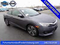 This 2016 Civic coupe is a one owner vehicle with a