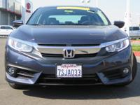 Options:  2016 Honda Civic Sedan Ex-T|Blue|1.5L I-4 Di