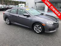 CARFAX One-Owner. Modern Steel Metallic 2016 Honda