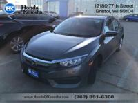 Recent Arrival! Black Cloth. 2016 Honda Civic 4D Sedan