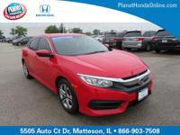 Recent Arrival! 2016 Honda Civic LX Red ** BACK-UP