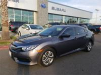 Options:  2016 Honda Civic Lx 4D Sedan|4 Speakers|Am/Fm