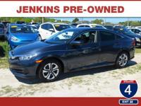 CarFax 1-Owner, This 2016 Honda Civic Sedan LX will