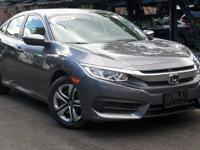 New Price! Certified. 2016 Honda Civic LX Modern Steel