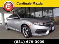 CARFAX One-Owner. Clean CARFAX. Silver 2016 Honda Civic