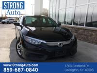 This 2016 Honda Civic Sedan LX is offered to you for