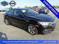 This 2016 Civic sedan is a one owner vehicle with low