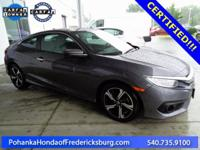 This 2016 Civic coupe is s a one owner vehicle with a