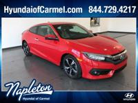 Rallye Red 2016 Honda Civic Touring Clean CarFax