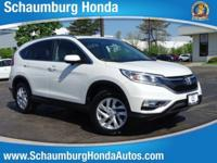 Recent Arrival! 2016 Honda AWD CR-V EX-L White Diamond