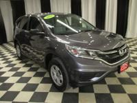 OVERVIEW This 2016 Honda CR-V 4dr AWD 5dr LX features a