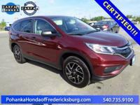 This 2016 CR-V is a one owner vehicle with a clean