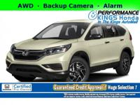 Honda Certified! Features: AWD, Backup Camera, a Front