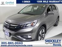 This pristine ONE OWNER All Wheel Drive CR-V has a