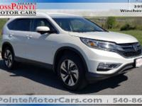 New Price! White Diamond Pearl 2016 Honda CR-V Touring