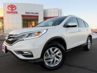 This 2016 Honda CR-V comes equipped with driver's power