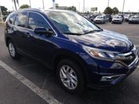 CARFAX One-Owner. Clean CARFAX. Blue 2016 Honda CR-V
