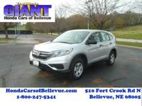 This 2016 Honda CR-V LX is offered to you for sale by