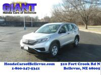This 2016 Honda CR-V LX AWD is offered to you for sale