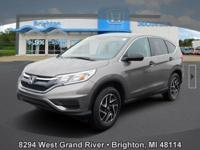 Options:  2016 Honda Cr-V Se|Silver|Carfax One-Owner.