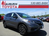 LOW MILEAGE, ONE OWNER, BLUETOOTH! This 2016 Honda CR-V