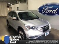 2016 Honda CR-V Touring Alabaster Silver Metallic ONE