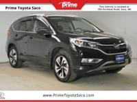 Clean CARFAX! CARFAX One-Owner! 2016 Honda CR-V Touring